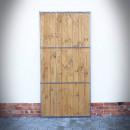 dveře s ocelovými příčkami