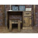 Dřevěný psací stůl retro styl
