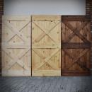 borovicové dveře surové, olej natural, olej hnědý