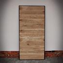 dubové dveře v ocelovém rámu