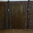 borovicové dveře tmavé