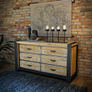 Dřevěný, kovový nábytek