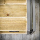 Konferenční stolek z borového dřeva a kovu