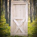 světlé dubové dveře