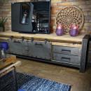 Dřevěný, kovový stolek