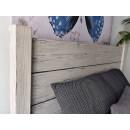 łóżko w stylu rutykalnym