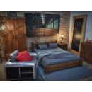 Luxusní manželská postel z borovicového dřeva