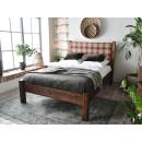 łóżko do sypialni rustykalnej