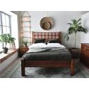 Dřevěná retro postel z masivní borovice