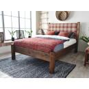 Dřevěná postel retro styl