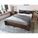 Dřevěná postel z borovicového dřeva