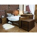 Jednolůžková borovicová postel