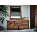 Dřevěné zrcadlo do pokoje