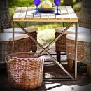 venkovní stolek na kovovém podnoží