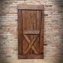 dubové dveře hnědé