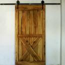 dubové dveře na pojízdné konstrukci