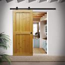 dveře na kovovém pojezdu