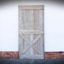 dveře v ocelovém rámu šedá