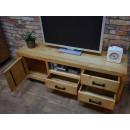 Dřevěný stolek se skříňkou a šuplíky