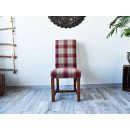 Čalouněná židle z masivní borovice