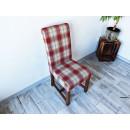 Čalouněná jídelní židle z borovicového dřeva