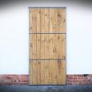 dveře s ocelovou konstrukcí