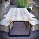 stolek z dubové desky