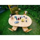 Stół rozkładany z drewna świerkowego