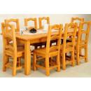 Smrkový nábytek do jídelny