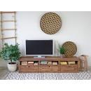 Masivní TV stolek z borového dřeva