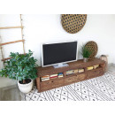 Stolek pod televizor z borového dřeva