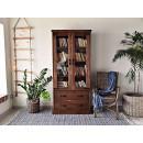 Borovicová knihovna z masivního dřeva