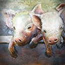 Železný 3D obraz PIG